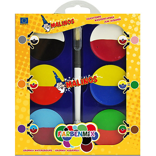 Набор акварельный красок для смешивания Malinos, 6 шт от Malinos