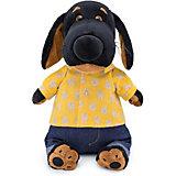 Мягкая игрушка Budi Basa Собака Ваксон в джинсах и желтой рубашке, 25 см