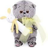 Мягкая игрушка Budi Basa Кот Басик Baby с погремушкой, 20 см