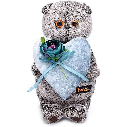 Мягкая игрушка Budi Basa Кот Басик с сердцем из бархата, 19 см от Budi Basa