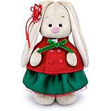 Мягкая игрушка Budi Basa Зайка Ми в красном жакете и зеленой юбке, 32 см