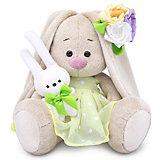 Мягкая игрушка Budi Basa Зайка Ми с зайчиком и нарядным цветком, 15 см