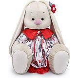 Мягкая игрушка Budi Basa Зайка Ми в платье с красным воротничком, 34 см