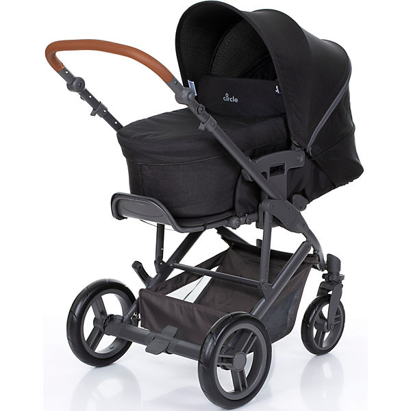 Kombi Kinderwagen Merano 4, Travel Set All in One inkl. Sportsitz und Tragewanne incl. Autositz Imola und Adapter, woven-black