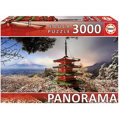 """Пазл Educa панорама """"Гора Фудзи и пагода Чурейто"""", 3000 деталей от Educa"""