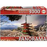 """Пазл Educa панорама """"Гора Фудзи и пагода Чурейто"""", 3000 деталей"""