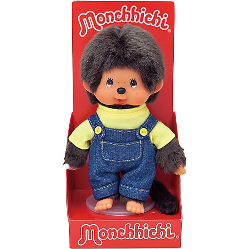 Мягкая игрушка Monchhichi Мончичи, мальчик в комбинезоне и желтой футболке, 20 см от Monchhichi