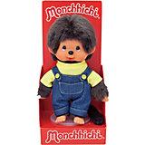 Мягкая игрушка Monchhichi Мончичи, мальчик в комбинезоне и желтой футболке, 20 см