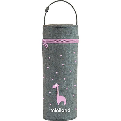Термосумка для бутылочек Miniland Silky 350 мл, розовый - розовый от Miniland