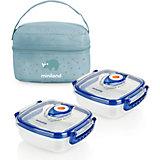 Термосумка Miniland Pack-2-Go HermifFresh с вакуумными контейнерами, голубая