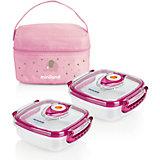 Термосумка Miniland Pack-2-Go HermifFresh с вакуумными контейнерами, розовая