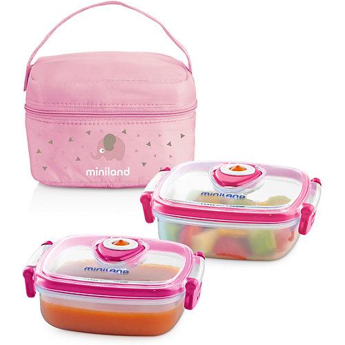 Термосумка Miniland Pack-2-Go HermifFresh с вакуумными контейнерами, розовая - розовый от Miniland