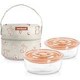 Термосумка Miniland Pack-2-Go Naturround Bunny со стеклянными контейнерами