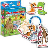 """Фигурные карточки на кольце Vladi Toys """"Мир животных"""""""
