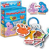 """Фигурные карточки на кольце Vladi Toys """"Подводный мир"""""""