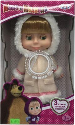 "Кукла Карапуз ""Маша"", 25 см, в шубе, озвученная"