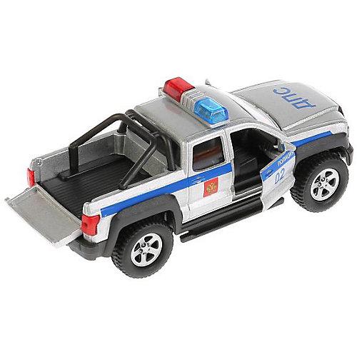 """Машина Технопарк """"Пикап полиция"""", 13,3 см, свет и звук, инерционная от ТЕХНОПАРК"""