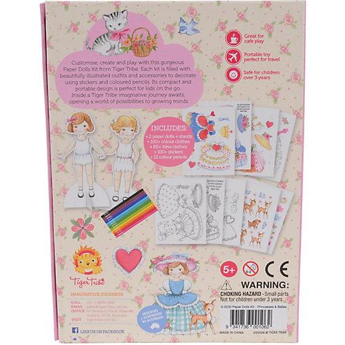 Игровой набор с бумажными куклами Tiger Tribe, Принцессы от Tiger Tribe