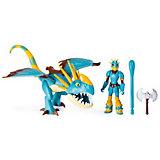 Игровой набор Spin Master Dragons, дракон Змеевик и фигурка викинга