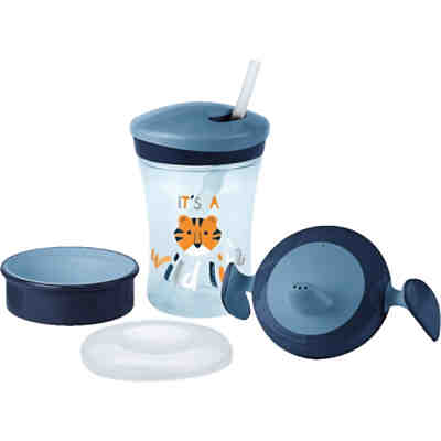 Trinkbecher evolution cup, 230 ml, blau, Tiger, 4-tlg.