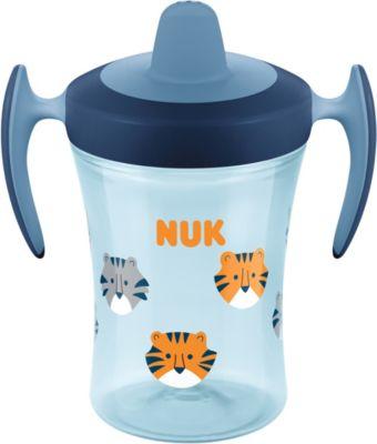 Tiger weicher Trinkhalm BPA-frei blau NUK Action Cup Trinklernflasche 12+ Monate 230ml auslaufsicher