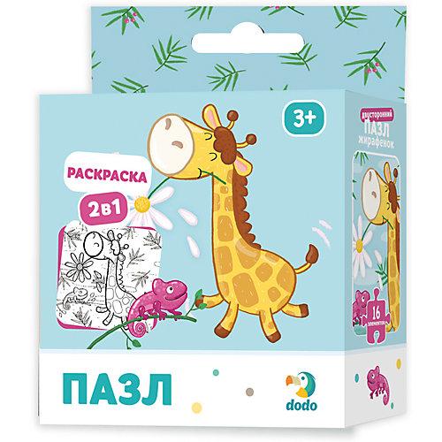 Пазл-раскраска 2в1 Dodo Жирафенок от Dodo