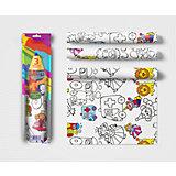 """Скатерть Мозаика-синтез ButtenFilm """"Детская раскраска"""", 110х360 см, 3 шт"""