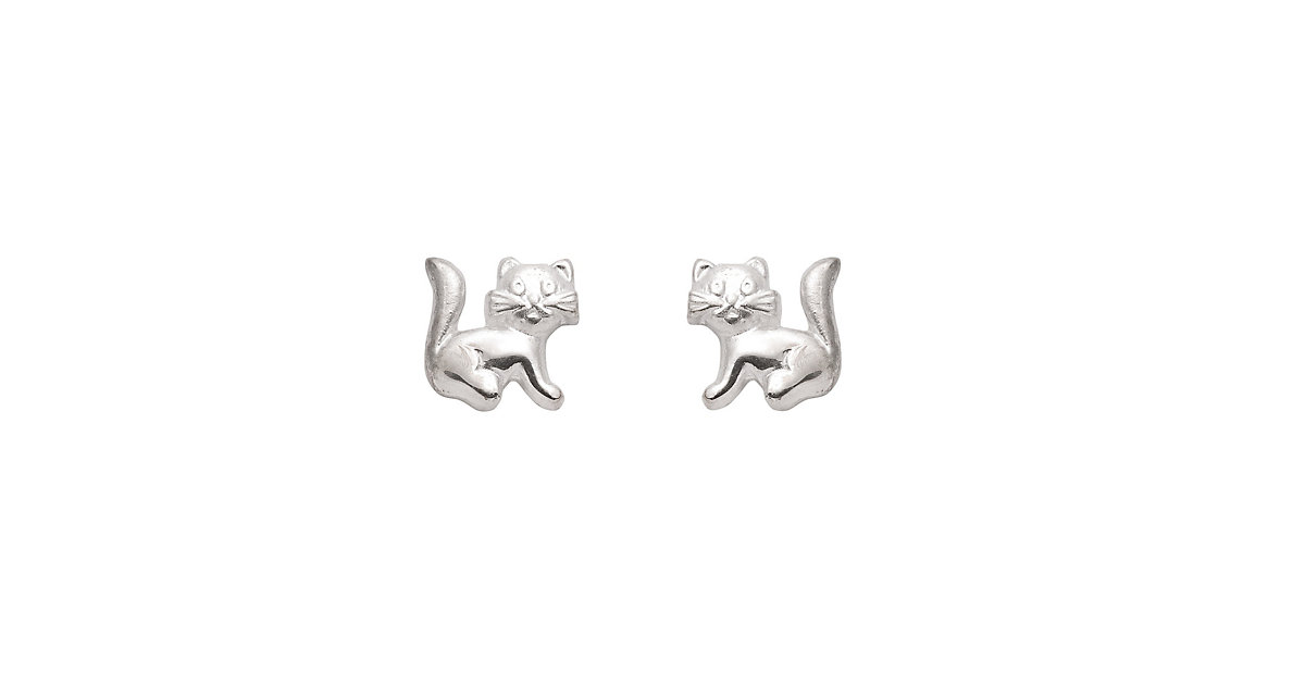 Adelia´s 1 Paar Silber Ohrringe Ohrstecker Katze 925 Sterling Silber Ohrhänger silber | Schmuck > Ohrschmuck & Ohrringe > Ohrstecker | Silber | Adelia's