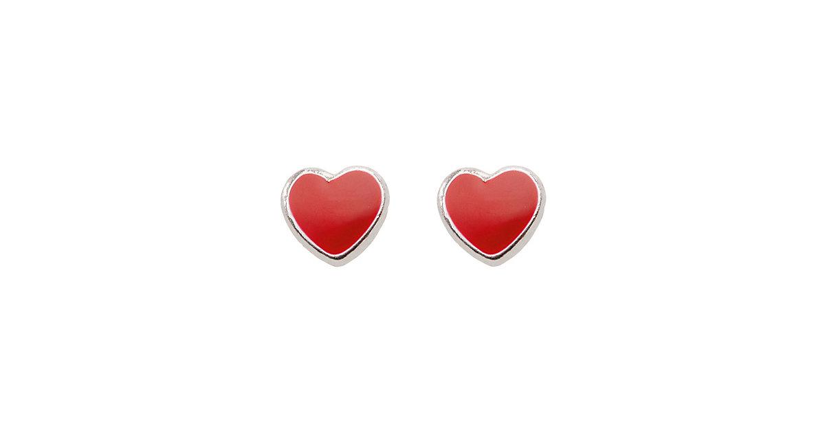 Adelia´s 1 Paar Silber Ohrringe Ohrstecker Herz 925 Sterling Silber Ohrhänger silber | Schmuck > Ohrschmuck & Ohrringe > Ohrstecker | Silber | Lack | Adelia's