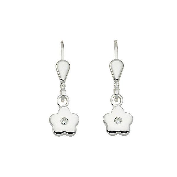 d097d4b9e5256 Adelia´s 1 Paar Silber Ohrringe Ohrhänger Blüte 925 Sterling Silber mit  Zirkonia Ohrringe