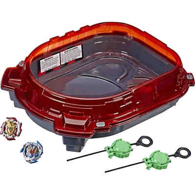 Beyblade Burst Turbo Slingshock Rail Rush Battle Set -- komplettes Set