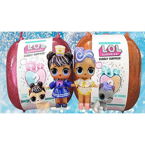 """Игровой набор LOL """"Шипучий сюрприз: кукла и питомец"""", золотой кейс от MGA"""