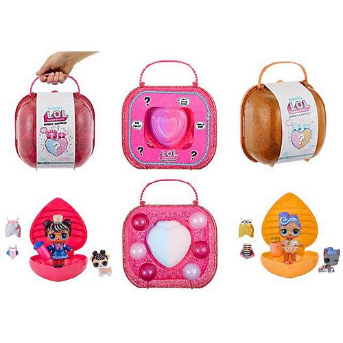 """Игровой набор LOL """"Шипучий сюрприз: кукла и питомец"""", розовый кейс от MGA"""