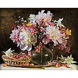 Картина по номерам Schipper Букет цветов с вишней 40х50 см