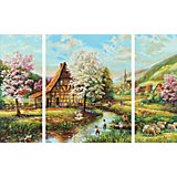 Картина-триптих по номерам Schipper Страна идиллия 50х80 см