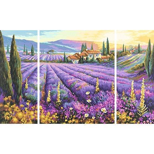 Картина-триптих по номерам Schipper Лавандовые поля 50х80 см от Schipper