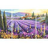 Картина-триптих по номерам Schipper Лавандовые поля 50х80 см