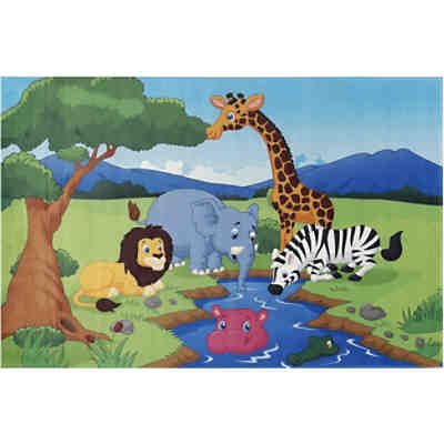 Kinderteppich Lovely Kids, Safari, 140 x 200 cm