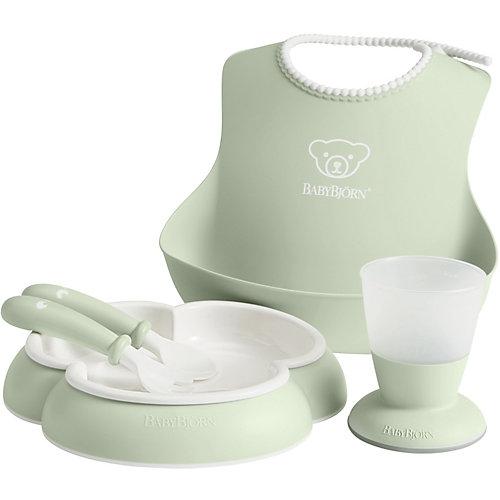 Набор посуды для кормления BabyBjorn, нежно-зелёный - зеленый от BabyBjorn