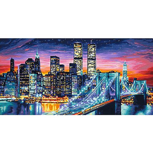 Картина по номерам Schipper Ночной Манхеттен, 40х80 см от Schipper