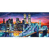 Картина по номерам Schipper Ночной Манхеттен, 40х80 см