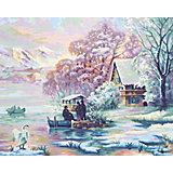 Картина по номерам Schipper Горное озеро зимой, 40х50 см