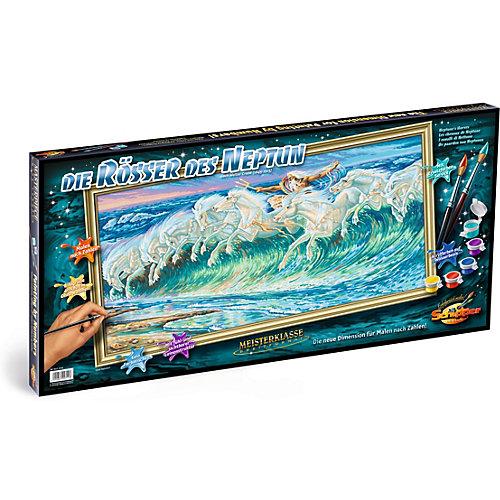 Картина по номерам Schipper Вольтер Крейн «Лошади Нептуна», 40х80 см от Schipper