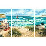 Картина по номерам Schipper Триптих: Летний отпуск, 50х80 см