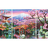 Картина по номерам Schipper Триптих: Цветущая вишня, 50х80 см