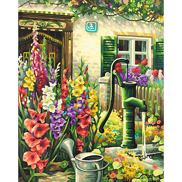 Картина по номерам Schipper Цветник у дома, 40х50 см