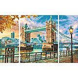 Картина по номерам Schipper Триптих: Тауэрский мост, 50х80 см