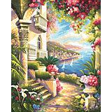 Картина по номерам Schipper Дом у моря, 40х50 см