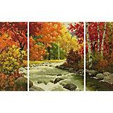Картина по номерам Schipper Триптих: Осенний поток, 50х80 см