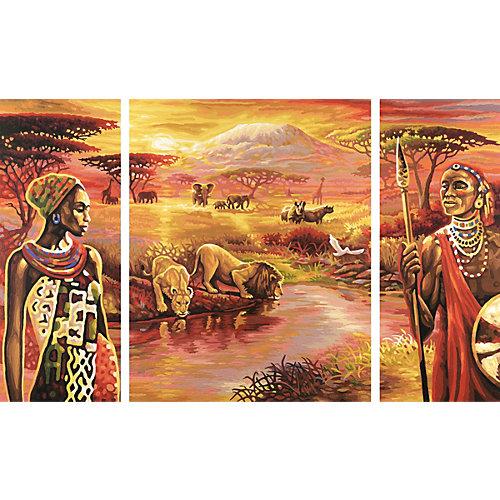Картина по номерам Schipper Триптих: Килиманджаро, 50х80 см от Schipper